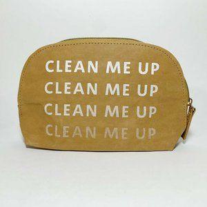 Sephora Clean Me Up Tan Makeup Cosmetics Bag
